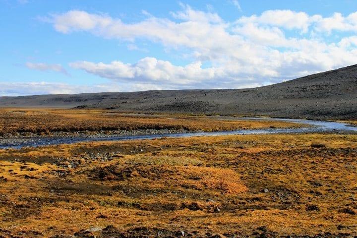Quer durchs Hochland in Island im September