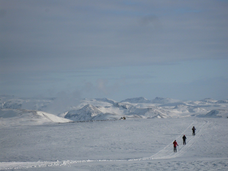 Langlauf-Loipe im Skigebiet Bláfjöll Copyright: C.B.