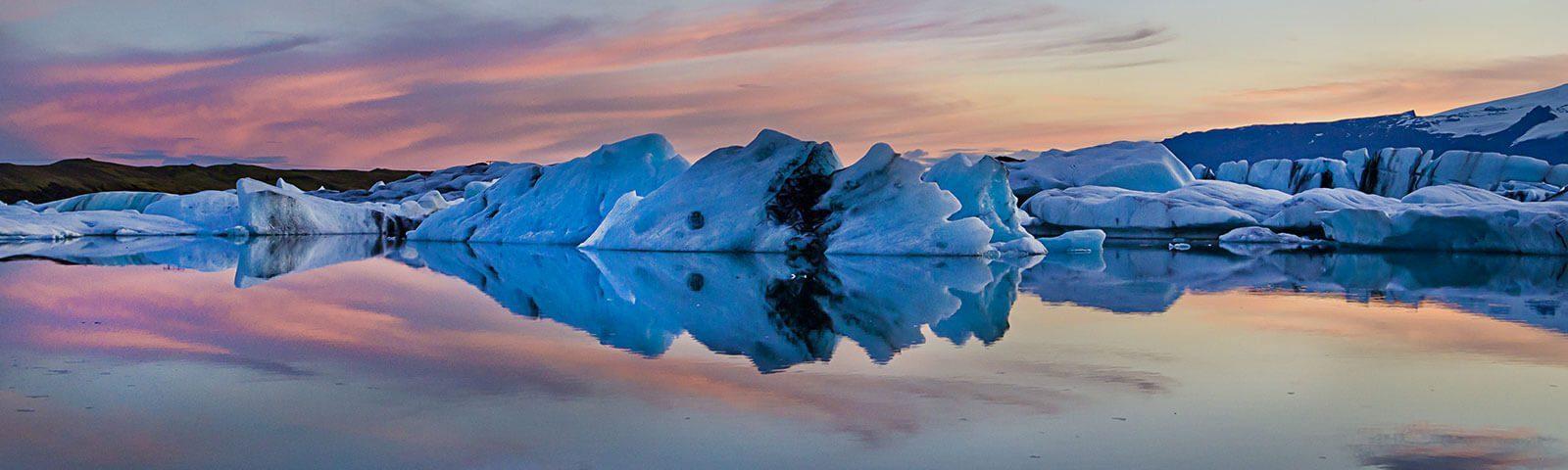 Die Gletscherlagune Jökulsárlón