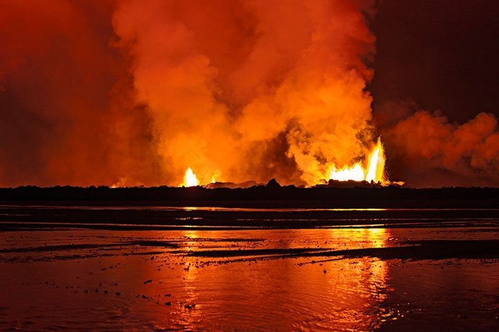 Vulkan in Island | Holuhraun: Entstehung eines Lavafeldes