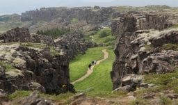Die Kontinentalplattenspalte von Thingvellir