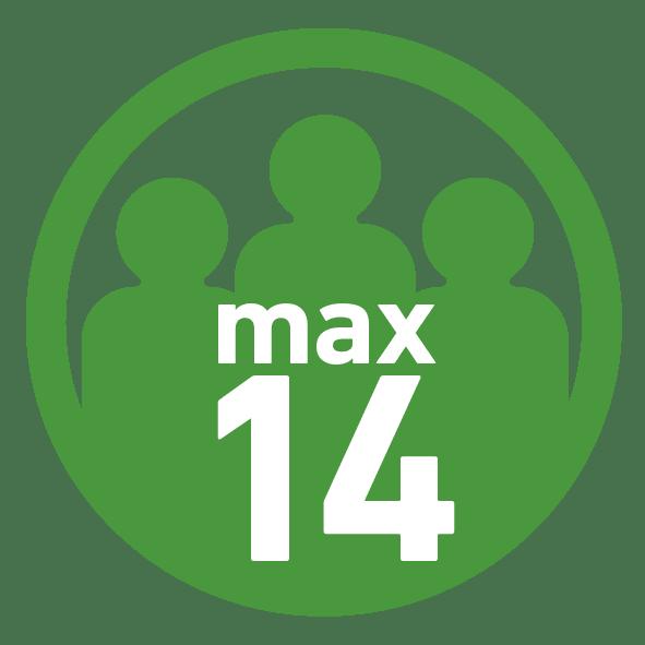 Max 14 Teilnehemer