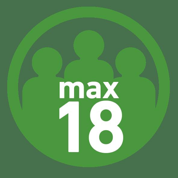 Max 18 Teilnehmer