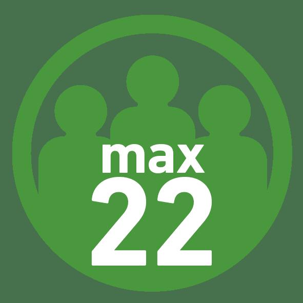 max 22 Teilnehmer
