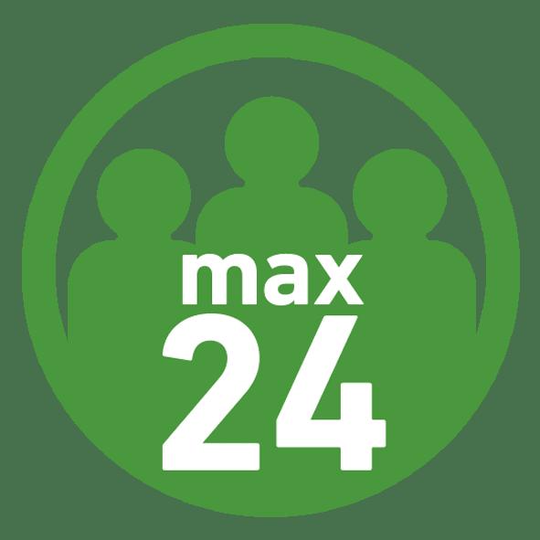 Max 24 Teilnehmer