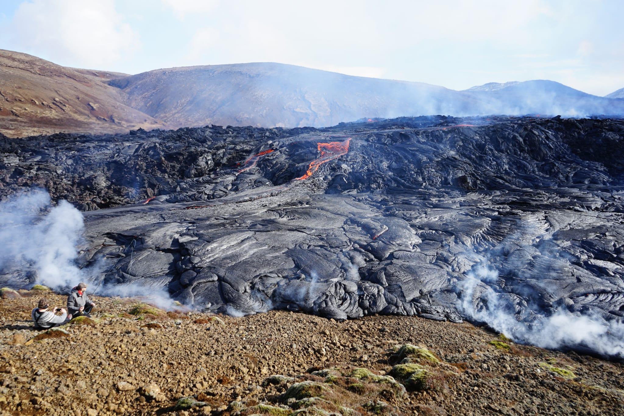 Lavafeld Geldingardalur Vulkan März 2021